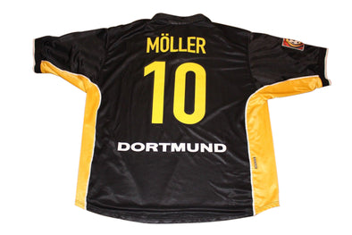 MOLLER #10 BORUSSIA DORTMUND 1998/1999 AWAY AUTHENTIC VINTAGE SOCCER JERSEY. XL