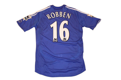 ROBBEN #16 CHELSEA MATCH WORN 2005/2006 AUTHENTIC VINTAGE SOCCER JERSEY. MEDIUM