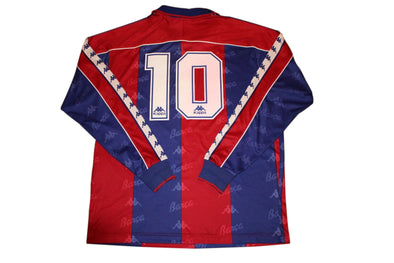 ROMARIO #10 BARCA 1992/1995 VINTAGE HOME AUTHENTIC SOCCER JERSEY. L/S. LARGE