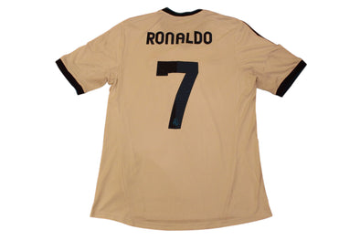 RONALDO #7 REAL MADRID 2012/2013 HOME AUTHENTIC SOCCER JERSEY. LARGE