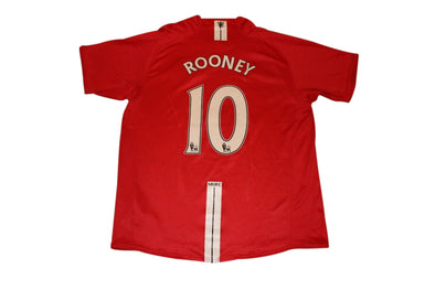 ROONEY #10 MANCHESTER UNITED 2007/2008 HOME AUTHENTIC SOCCER/FOOTBALL JERSEY. LA
