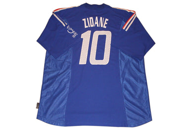 ZIDANE #10 JAPAN 2002 WORLD CUP FRANCE HOME AUTHENTIC VINTAGE SOCCER JERSEY. XXL