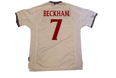 BECKHAM #7 EURO 2000 HOME AUTHENTIC SOCCER VINTAGE JERSEY. XL