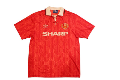 MANCHESTER UNITED 1992/1994 FA PREMIER LEAGUE CHAMPIONS HOME OFFICIAL JERSEY L