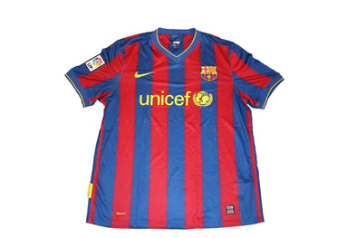 BARCELONA 2009 / 2010 HOME AUTHENTIC VINTAGE JERSEY. LARGE