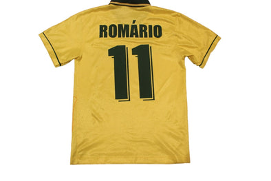 BRAZIL USA 1994 ROMARIO #11 HOME AUTHENTIC VINTAGE JERSEY. MEDIUM