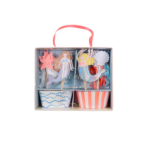 Let's Be Mermaids Cupcake Kit - BKD - Meri Meri