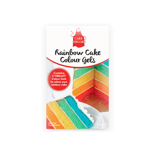 Rainbow Food Colouring Gels - BKD