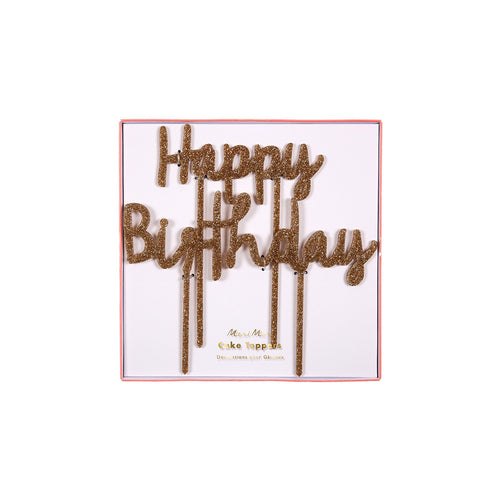 Happy Birthday Acrylic Cake Toppers - BKD