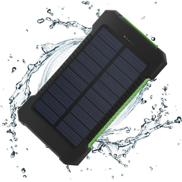 10,000mAh Spare Phone Battery / Power Bank (Solar Charging!)