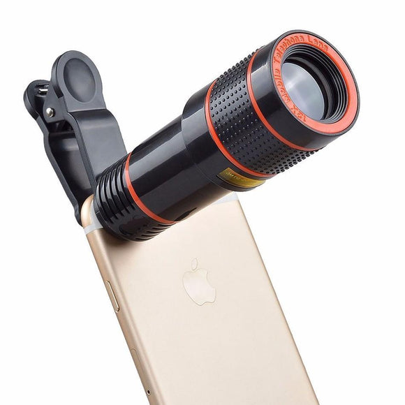 12X Optical Zoom Clip-on Telescope Camera Lens - Bestbuy-Gadget