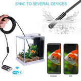 Waterproof WiFi Endoscope/Inspection Camera 720p for Android and iPhone iOS - Bestbuy-Gadget