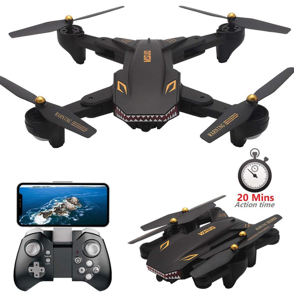 XS809S (XS809HW Upgraded) Foldable RC Drone with 720P Wide Angle HD Camera FPV - Bestbuy-Gadget