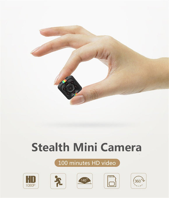 SQ11 Mini Camera (HD 1080P + Night Vision + Motion Detection)