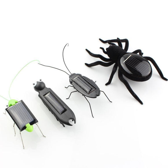 Set of 4 Solar Powered Robo-Bugs (Spider, Cockroach, Centipede & Grasshopper) - Bestbuy-Gadget