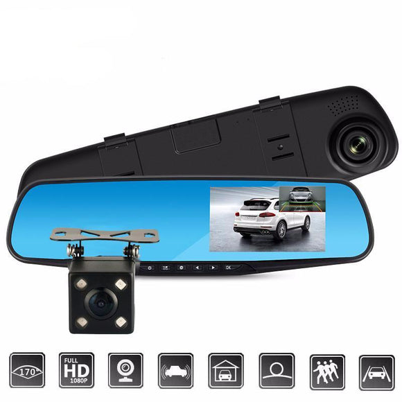Car Rearview Mirror Camera (Dashcam + Reverse Parking) - Bestbuy-Gadget