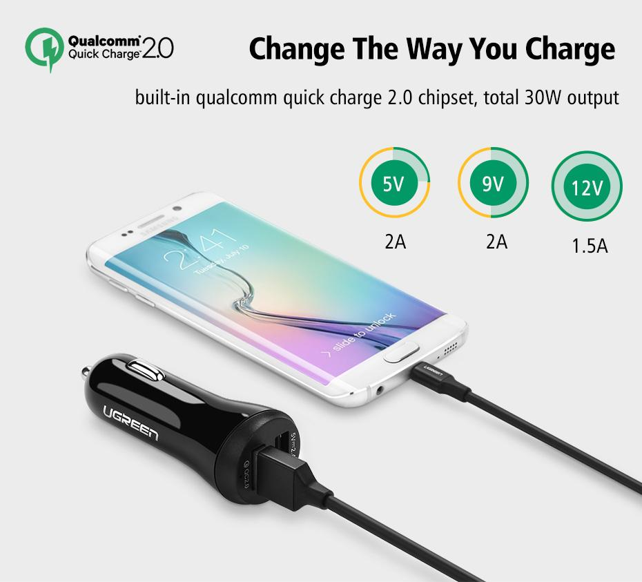 Quick charge 2 port usb phone car charger quick charge 2 port usb phone car charger bestbuy gadget greentooth Images