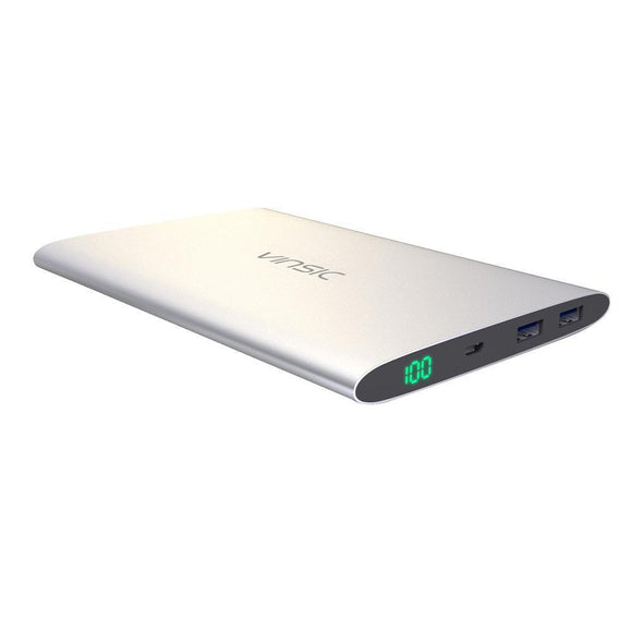 20,000mAh Vinsic Power Bank 2.4A Dual USB with LED Display - Bestbuy-Gadget