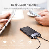 10,000mAh Baseus Quick Charge 3.0 Power Bank Dual USB LCD - Bestbuy-Gadget