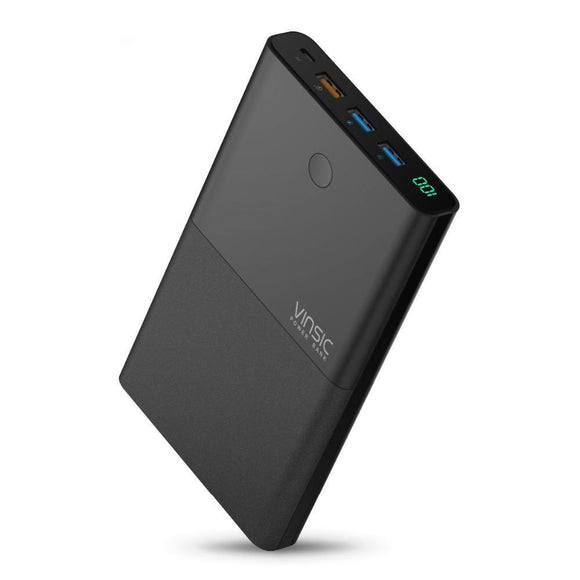 28,000mAh Vinsic Power Bank with QC 3.0 2.4A Dual USB - Bestbuy-Gadget