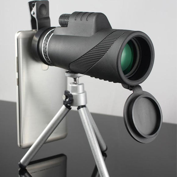40x60 Monocular Telescope With Clip-on For Smartphones - Bestbuy-Gadget