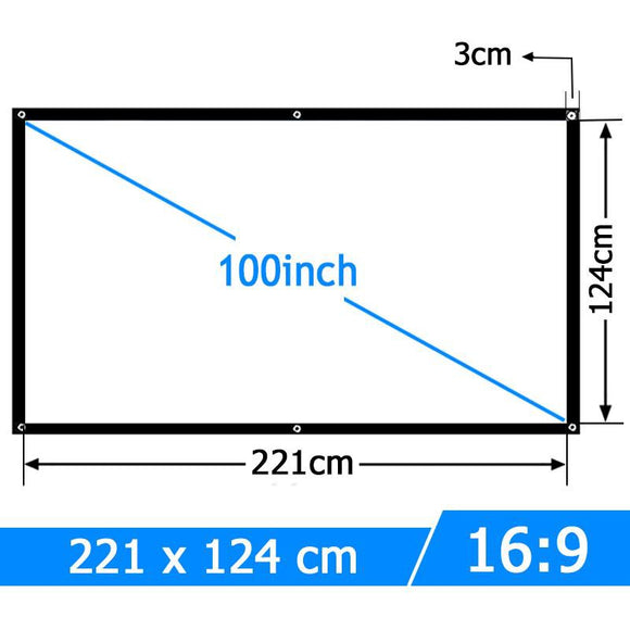 100 inch 16:9 Portable Projector Screen - Bestbuy-Gadget