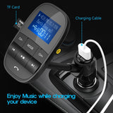 KM20 FM Transmitter Bluetooth with MP3 Player & LCD Display - Bestbuy-Gadget