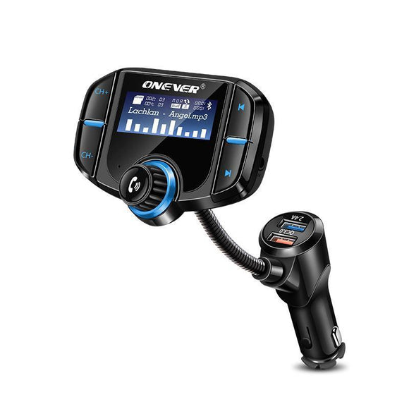 FM Bluetooth Transmitter with 2 Port Quick Charge 3.0 - Bestbuy-Gadget
