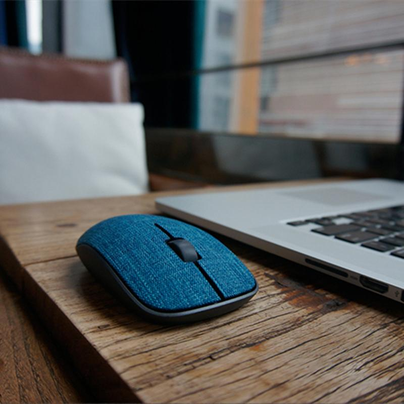 Super Slim Optical Wireless Mouse With Soft Fabric Cover