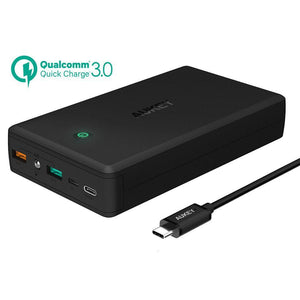 30,000mAh AUKEY Power Bank Portable Charger Quick Charge 3.0 - Bestbuy-Gadget