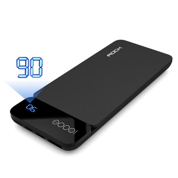 10,000mAh ROCK Power Bank with Digital Display - Bestbuy-Gadget