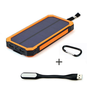 15,000mAh Portable Solar Power Bank with Double USB Output - Bestbuy-Gadget