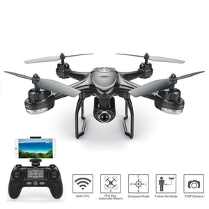 S30W GPS Drone Dynamic Follow FPV Quadcopter With 720P Wide Angle Camera - Bestbuy-Gadget