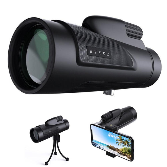 12X50 High Power Prism Monocular with Smartphone Adapter and Tripod - Bestbuy-Gadget