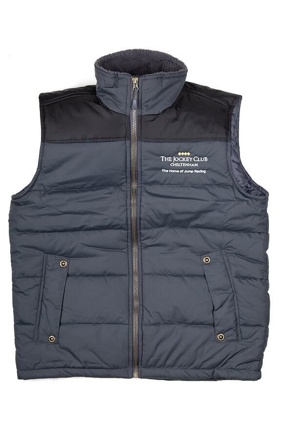 Black and Seal Grey Padded Sleeveless Body Warmer - Cheltenham Branded