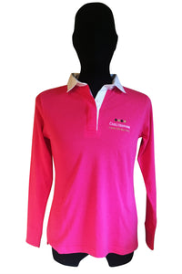 Womens Fitted Rugby Shirt in Pink or Sky Blue