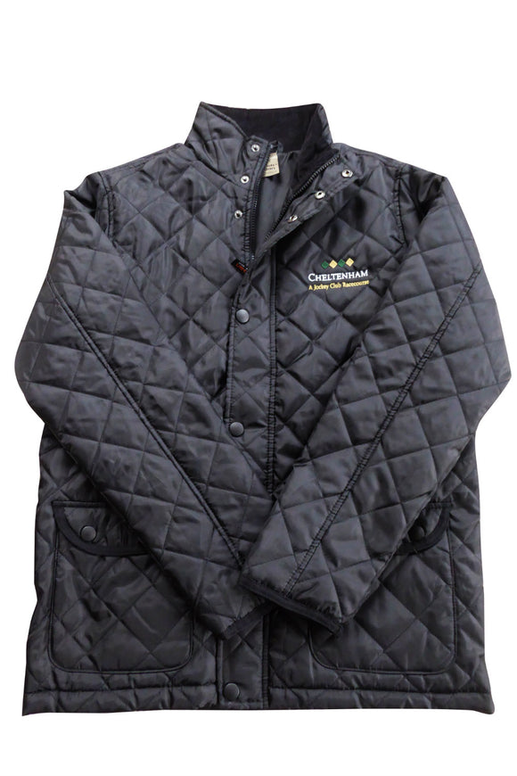 Mens Quilted Black Cheltenham Jacket - Cheltenham Racing Store
