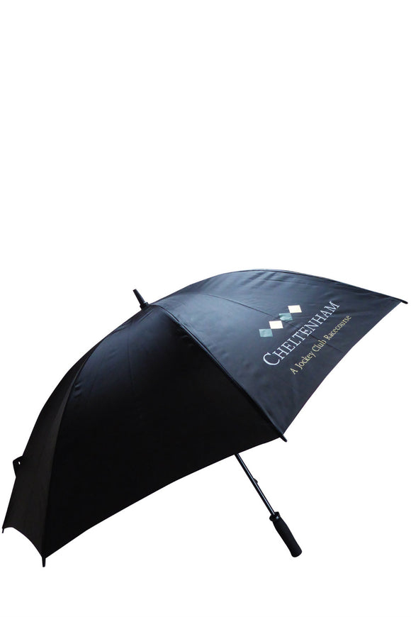Golf Style Umbrella in Black - Cheltenham Racing Store
