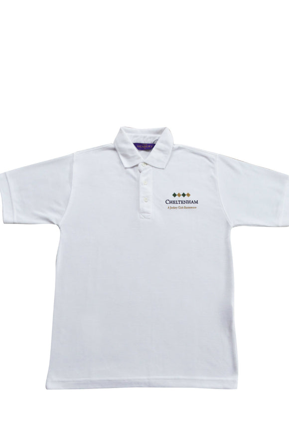White Cheltenham Polo Shirt - Cheltenham Racing Store