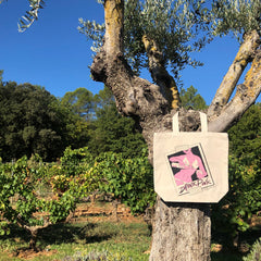 Drink Pink Designer Tote Bag designed by Guen Douglas