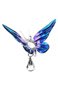 Fantasy Glass Butterfly - Purple