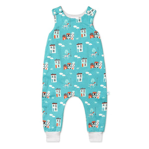 House Print Dungarees