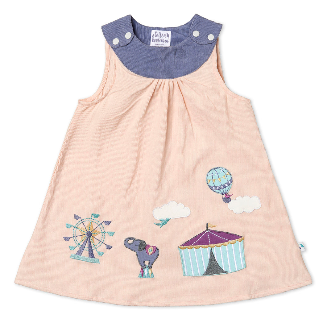 Needlecord Pinafore Dress