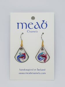 Meab Enamels Small Drop Earrings Triangular
