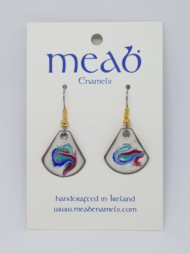 Meab Enamels Hanging Earrings Triangular