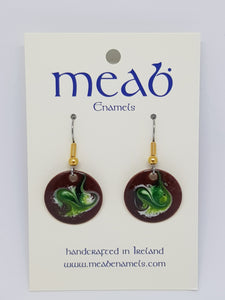 Meab Enamels Hanging Earrings 20mm diameter