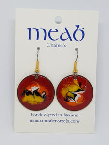 Meab Enamels Hanging Earrings 25mm diameter