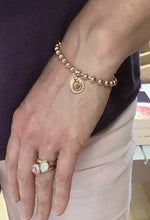 Rebecca My World Rose Gold Bracelet with Small Initial Charm