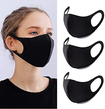 Black lightweight face covering