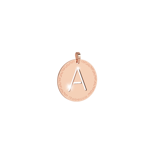 Rebecca My World Rose Gold Small Initial Charm